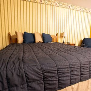 Blue Spruce Motel offers room with king beds.